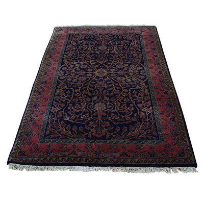Sarouk Fereghan New Zealand Oriental Hand-Knotted Blue Area Rug