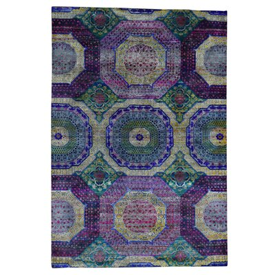 One-of-a-Kind Gowdy Oidized Hand-Knotted Silk Area Rug
