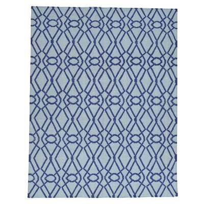 Flat Weave Reversible Durie Kilim Oriental Hand-Knotted Purple Area Rug