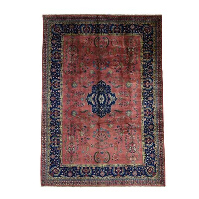 Sarouk Fereghan Revival New Zealand Hand-Knotted Red Area Rug