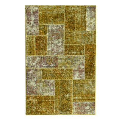 One-of-a-Kind Govan Overdyed Patchwork Vintage Hand-Knotted Area Rug