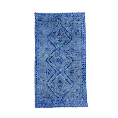 One-of-a-Kind Grasmere Overdyed Shiraz Worn Oriental Hand-Knotted Area Rug