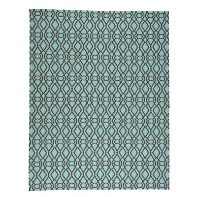 Light Reversible Kilim Flat Weave Oriental Hand-Knotted Green Area Rug