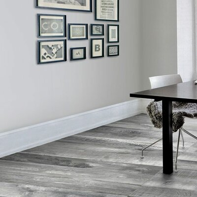 Chalet Glazed Rectified 6 x 36 Porcelain Wood Look Tile in Silver Gray