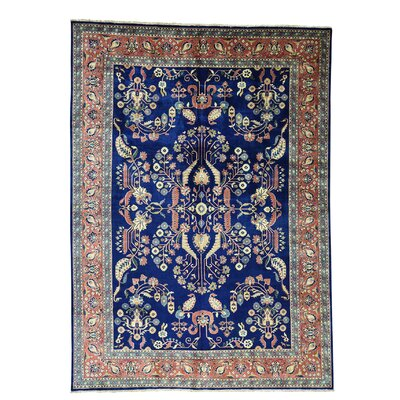 Sarouk Fereghan New Zealand 300 KPSI Hand-Knotted Blue Area Rug