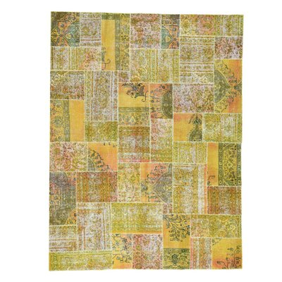 One-of-a-Kind Govan Overdyed Patchwork Oriental Vintage Hand-Knotted Area Rug