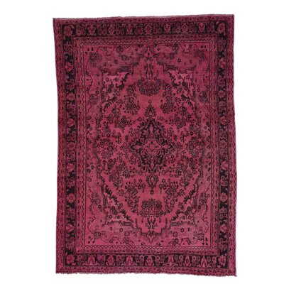 One-of-a-Kind Grasmere Overdyed Bibikabad Worn Hand-Knotted Area Rug