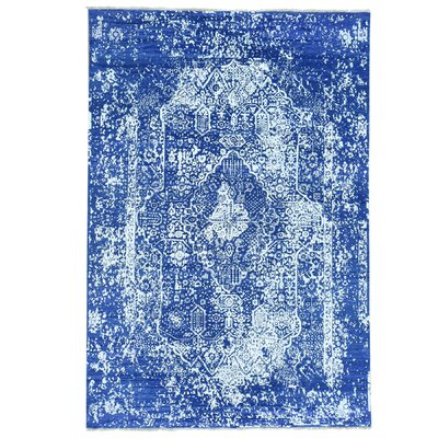One-of-a-Kind Titus Broken Oriental Hand-Knotted Silk Area Rug