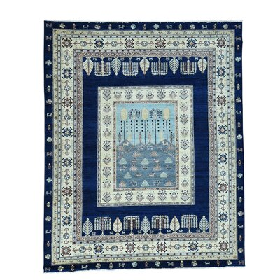 One-of-a-Kind Granillo Crafts Scenery Hand-Knotted Area Rug