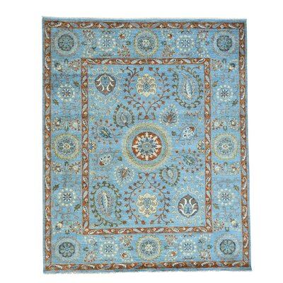 One-of-a-Kind Lavendon Suzani Oriental Hand-Knotted Area Rug