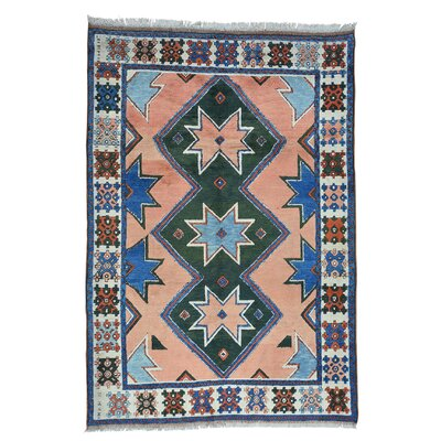 One-of-a-Kind Grider Kazak Konya Hand-Knotted Area Rug