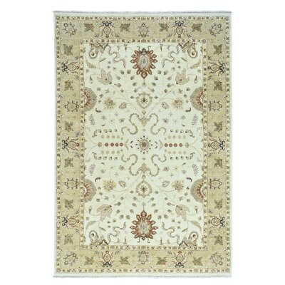 One-of-a-Kind Le Sirenuse Ziegler Mahal Oriental Hand-Knotted Wool Ivory Area Rug