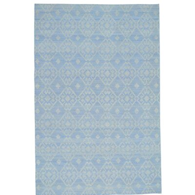Flat Weave Reversible Durie Kilim Oriental Hand-Knotted Ivory Area Rug