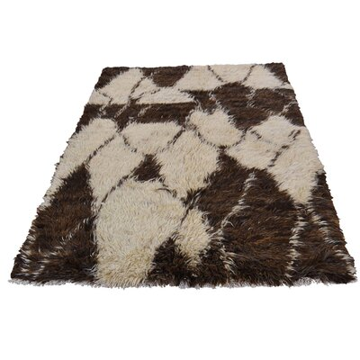 One-of-a-Kind Yasmine Plush Shaggy Hand-Knotted Area Rug