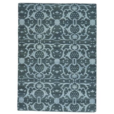 Flat Weave Reversible Kilim Oriental Hand-Knotted Black Area Rug
