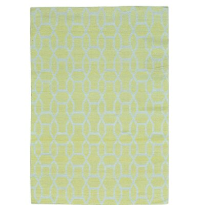 Flat Weave Reversible Kilim Oriental Hand-Knotted Yellow Area Rug
