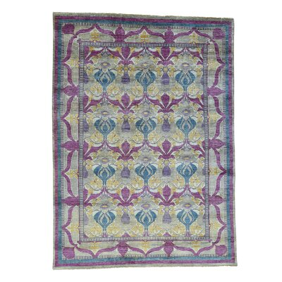 Crafts William Morris Oriental Hand-Knotted Gray Area Rug