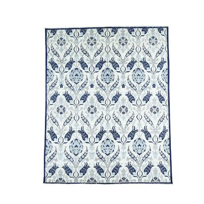 Crafts William Morris Oriental Hand-Knotted Ivory Area Rug