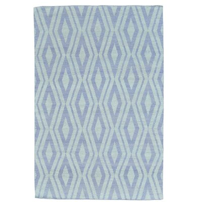 Reversible Kilim Flat Weave Hand-Knotted Purple Area Rug