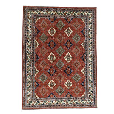 Ersari Turkoman Oriental Hand-Knotted Red Area Rug