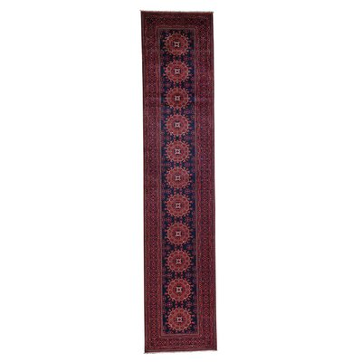 Afghan Khamyab Vegetable Dyes Hand-Knotted Blue Area Rug