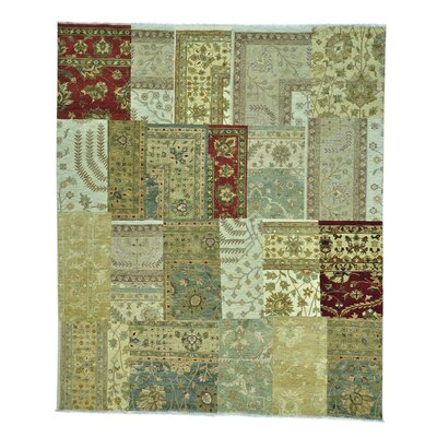 One-of-a-Kind Granillo Patchwork Oriental Hand-Knotted Area Rug
