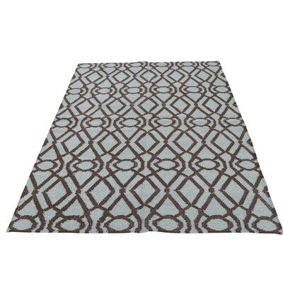 Durie Kilim Reversible Hand-Knotted Gray Area Rug