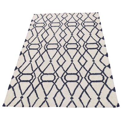 Durie Kilim Reversible Oriental Hand-Knotted Ivory Area Rug