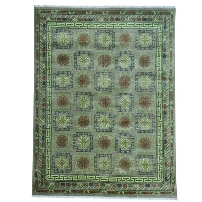 Khotan Oriental Hand-Knotted Gray Area Rug