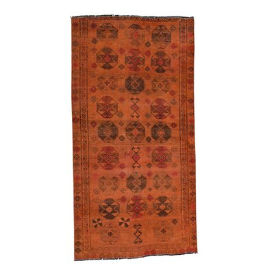 One-of-a-Kind Greenawalt Overdyed Shiraz Vintage Hand-Knotted Area Rug