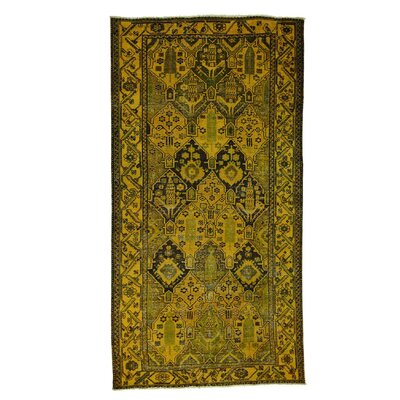 One-of-a-Kind Grasmere Overdyed Worn Hand-Knotted Area Rug