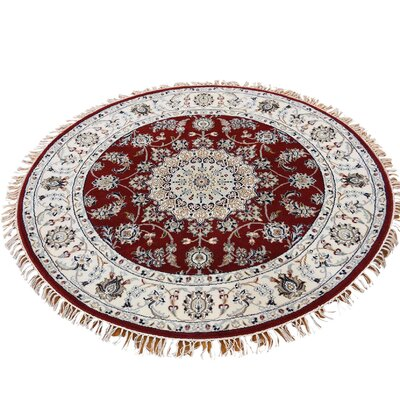 300 KPSI Nain Hand-Knotted Red Area Rug