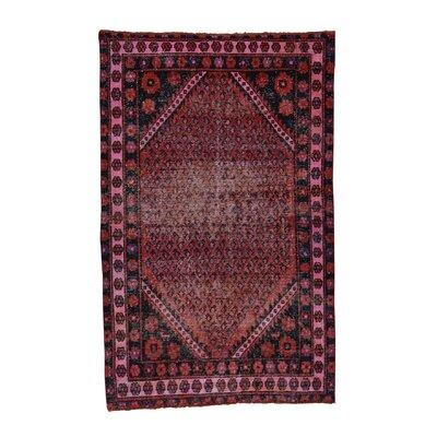 One-of-a-Kind Greenawalt Overdyed Sarouk Mir Vintage Hand-Knotted Area Rug