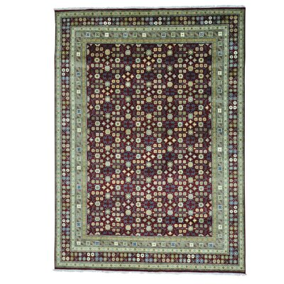 Flower Khotan Hand-Knotted Red Area Rug