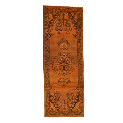 One-of-a-Kind Greenawalt Overdyed Hamadan Vintage Hand-Knotted Silk Area Rug