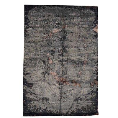 One-of-a-Kind Eddins Abstract Hand-Knotted Silk Area Rug