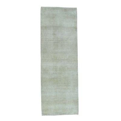 Tone on Tone Nepali Hand-Knotted Silk Beige Area Rug