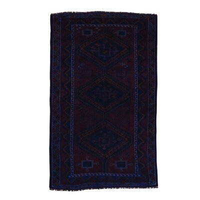 One-of-a-Kind Grasmere Overdyed Hamadan Worn Hand-Knotted Area Rug