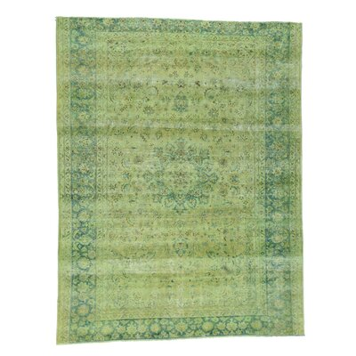 One-of-a-Kind Leighton Overdyed Worn Oriental Hand-Knotted Area Rug