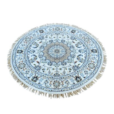250 Kpsi Nain Hand-Knotted Silk Ivory Area Rug