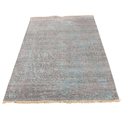One-of-a-Kind Eatman Broken Oriental Hand-Knotted Silk Area Rug