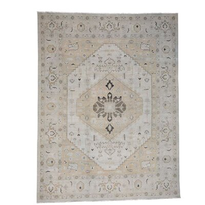 One-of-a-Kind Jude Peshawar Oriental Hand-Knotted Area Rug