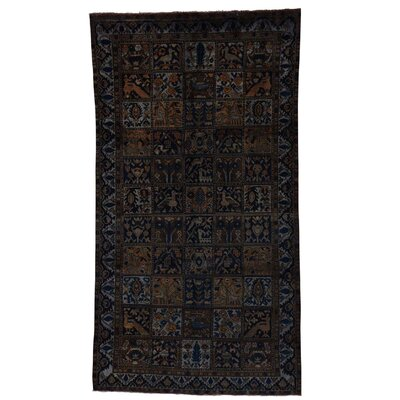 One-of-a-Kind Lear Overdyed Vintage Hand-Knotted Area Rug