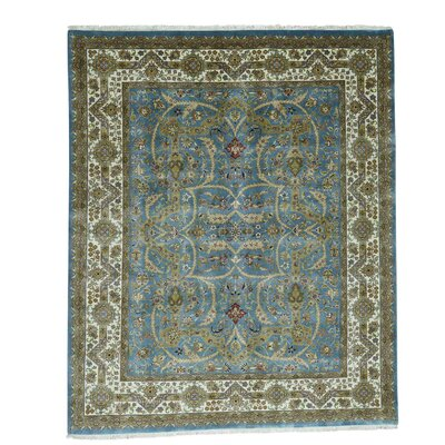 One-of-a-Kind Rudolph 300 KPSI New Zealand Oriental Hand-Knotted Area Rug