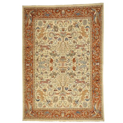 One-of-a-Kind Le Sirenuse Hunting Oriental Hand-Knotted Area Rug