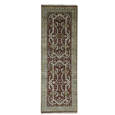 One-of-a-Kind Rudolph New Zealand Oriental Hand-Knotted Area Rug
