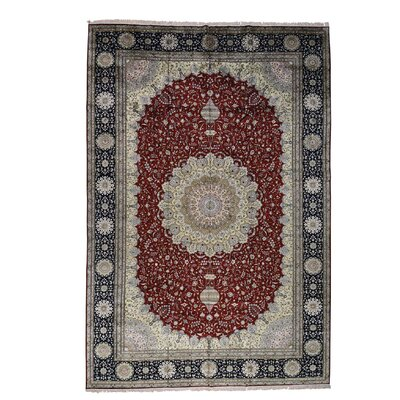 One-of-a-Kind Salzer 250 kpsi Oriental Hand-Knotted Silk Area Rug