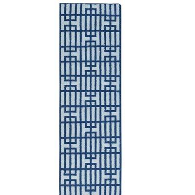 Reversible Geometric Flat Weave Kilim Hand-Knotted Wool Ivory Area Rug