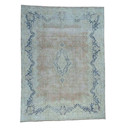 Kerman Oriental Hand-Knotted Pink Area Rug