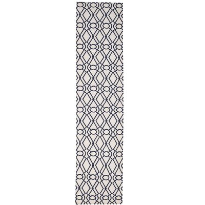 Reversible Flat Weave Durie Kilim Oriental Hand-Knotted Wool Ivory Area Rug